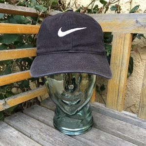 🚫SOLD Vtg Nike Black Denim White-Tag Snapback Hat